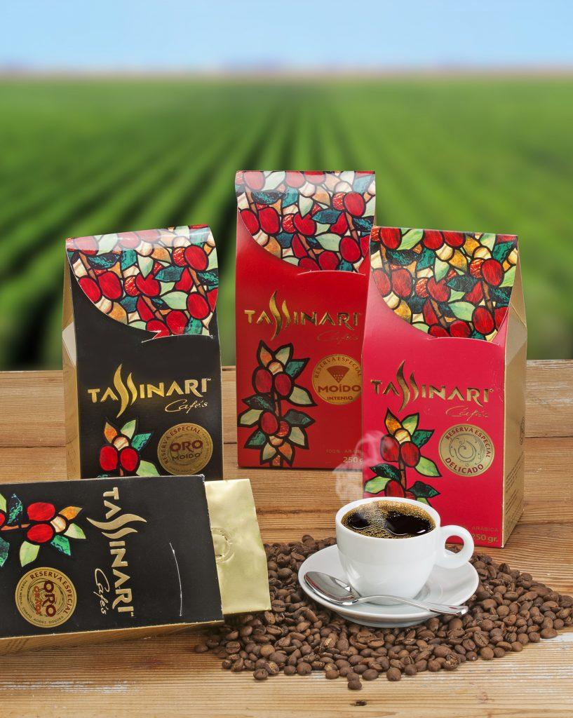 Linha de cafés Tassinari
