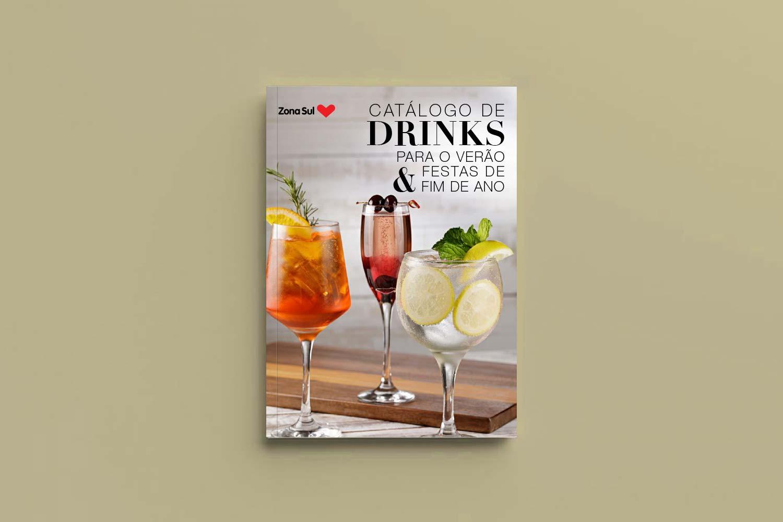 catálogo de drinks de verão